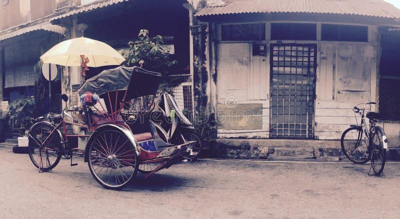 Bicylce de Becek en Georgetown, Penang, Malasia fotos de archivo libres de regalías
