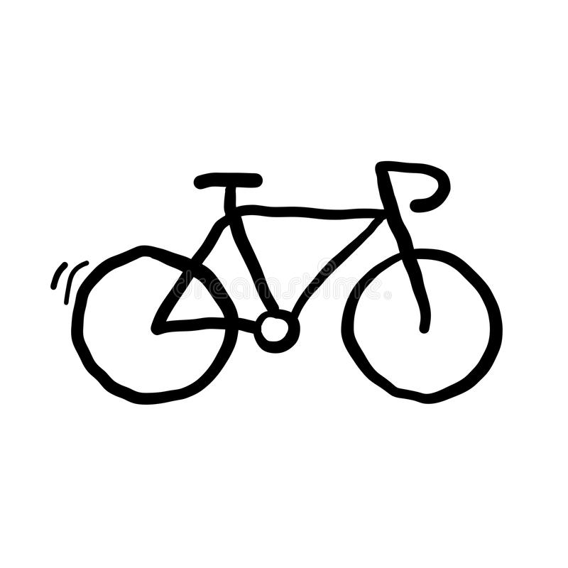 Bicyle Doodle Vector royalty free illustration