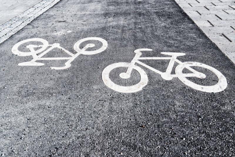 Bicyle-Weg stockbilder