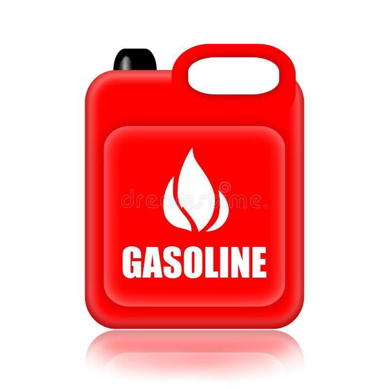 Bidão da gasolina ilustração do vetor