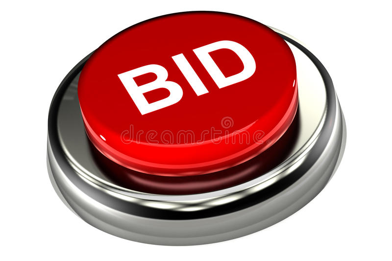 Bid Push Button vector illustration