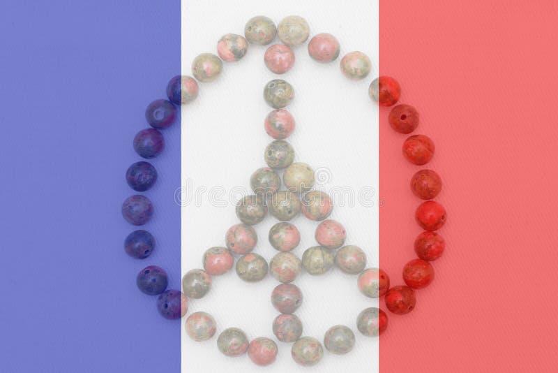 Bid transparante de vlag voor van Parijs, Frankrijk royalty-vrije stock afbeeldingen