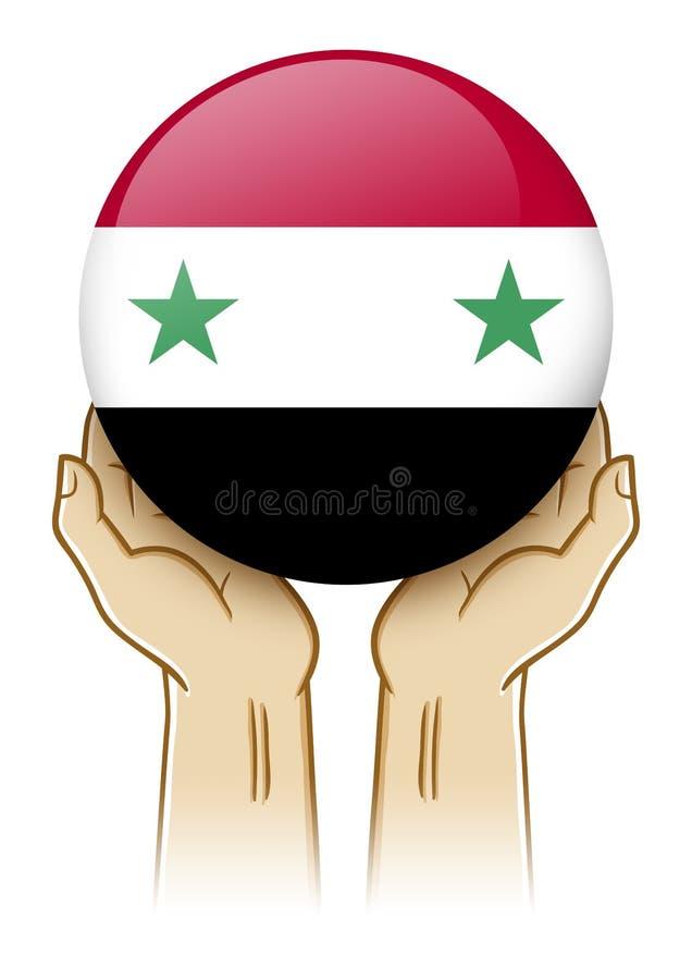Bid voor de Illustratie van Syrië stock illustratie