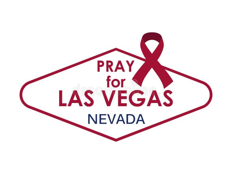Bid voor Las Vegas Symbool en lint Vector vector illustratie
