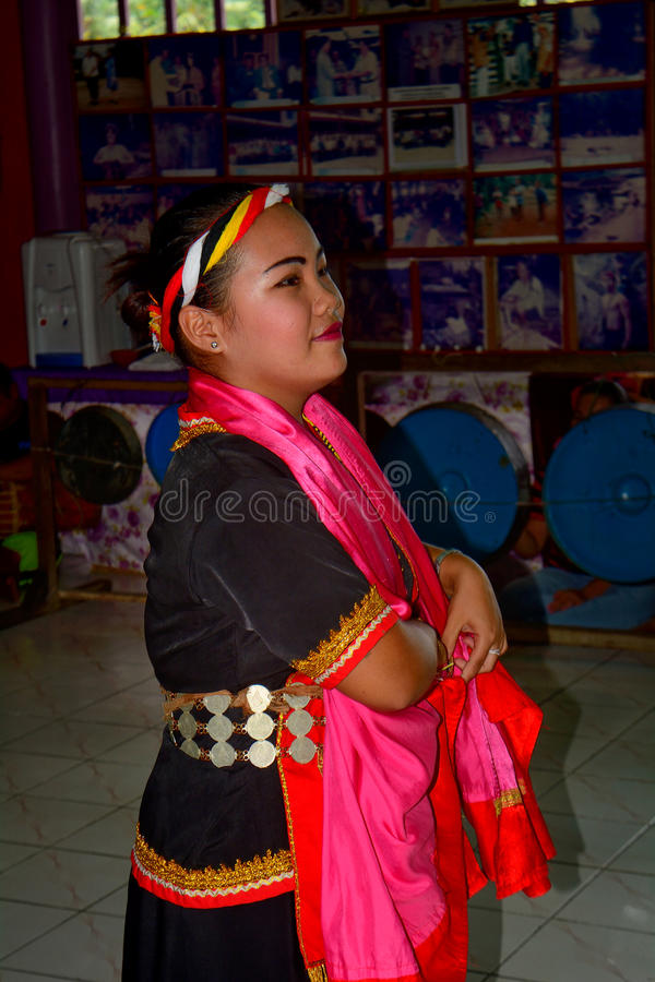 Bidayuh dancer, Mongkos, Borneo, Sarawak, Malaysia royalty free stock image