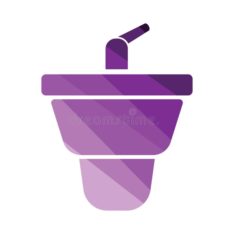 Bidet icon. Flat color design. Vector illustration vector illustration