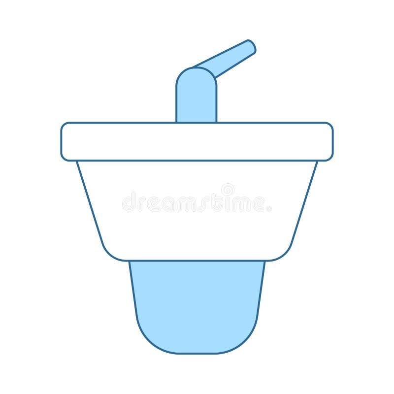 Bidet Icon. Thin Line With Blue Fill Design. Vector Illustration vector illustration