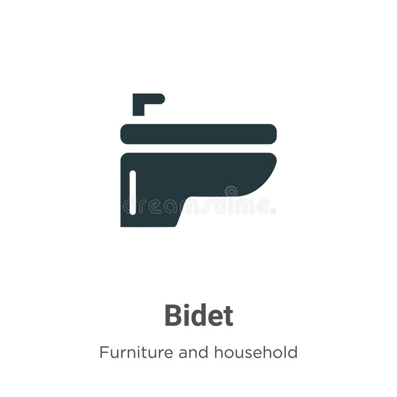 Bidet Vector Icon On White Background Flat Vector Bidet Icon Symbol Sign From Modern Furniture And Household Collection For Stock Vector Illustration Of Bidet Lavatory 161788084