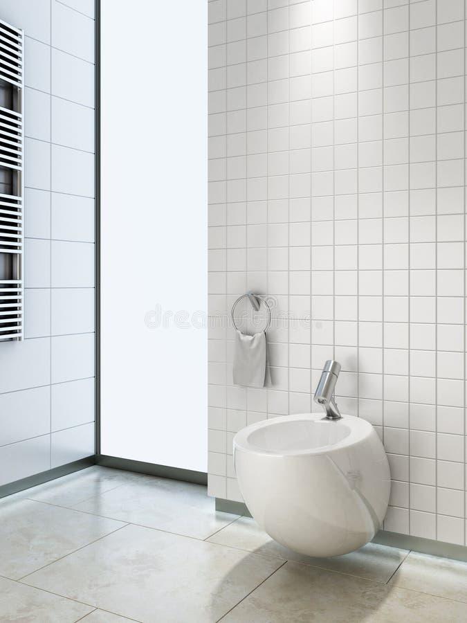 Bidet in WC vektor abbildung