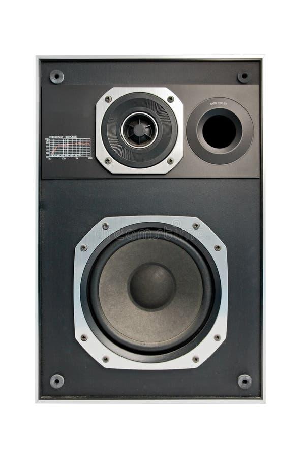 Bidirectionele hifi audio geïsoleerdea spreker, royalty-vrije stock afbeeldingen
