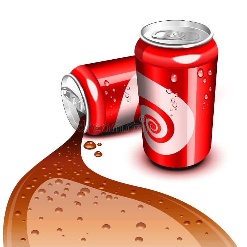 Bidon circulant de kola illustration stock