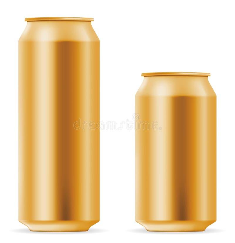 Bidon de bière blanc illustration libre de droits
