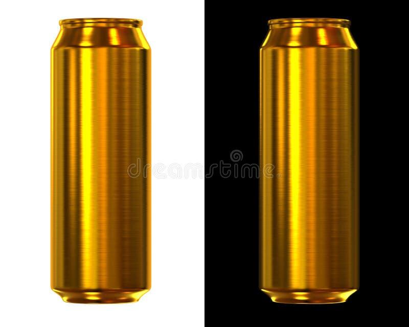 Bidon de bière d'or illustration de vecteur
