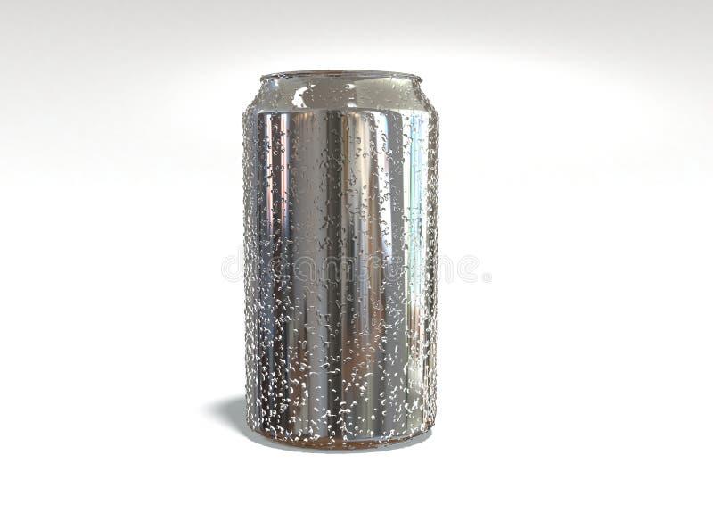 Bidon en aluminium photo libre de droits