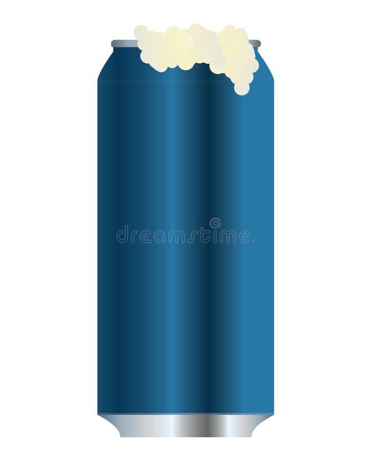 Bidon en aluminium bleu image libre de droits