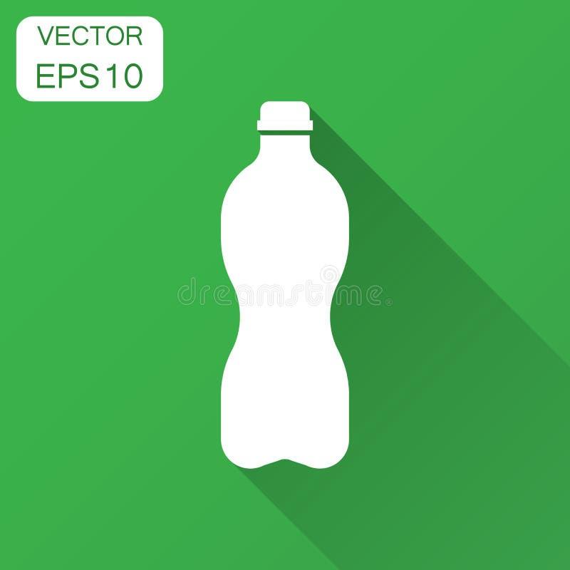 Bidon ikona w mieszkanie stylu Plastikowy sodowanej butelki wektoru illu ilustracji