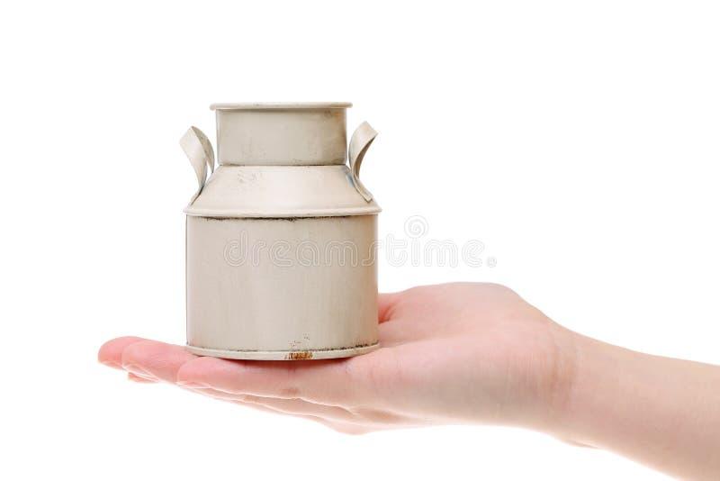 Bidone di latte d'annata fotografia stock