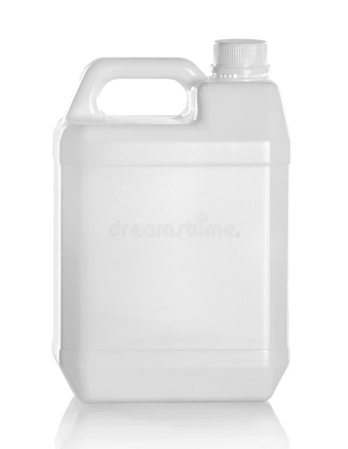 Bidone per la benzina di plastica immagini stock libere da diritti
