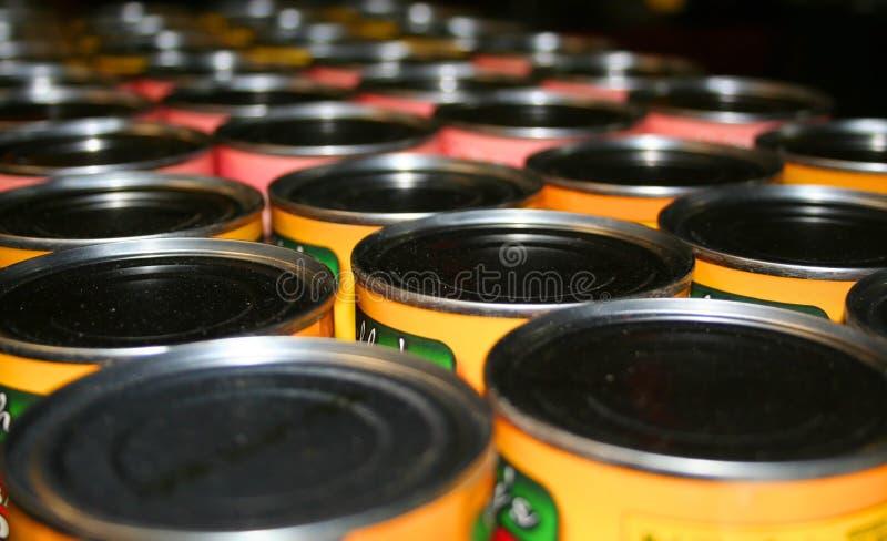 Bidons de nourriture photo libre de droits