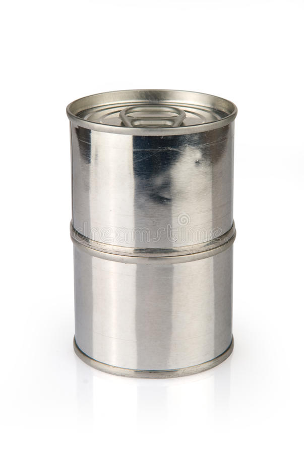 Bidons en métal image stock