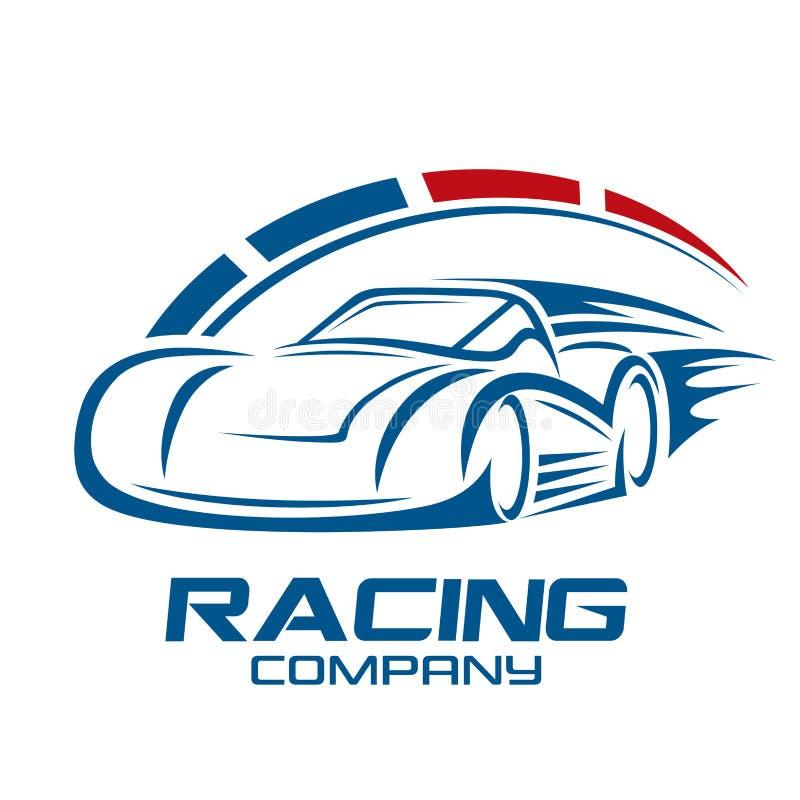 Bieżnego samochodu i logo prędkość również zwrócić corel ilustracji wektora ilustracja wektor