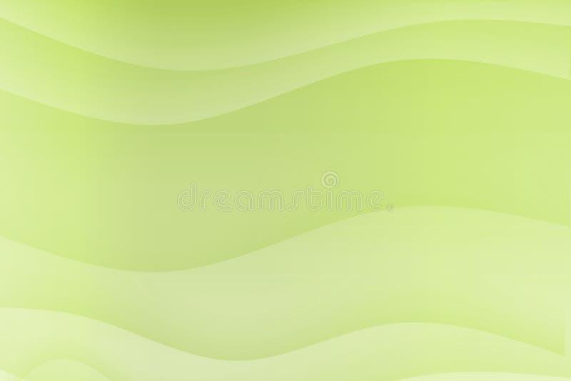 bieżące zielone kojące fala ilustracja wektor