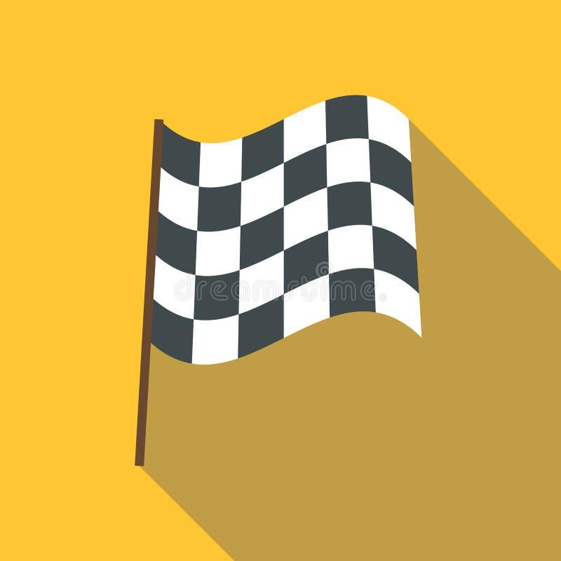 Bieżna chorągwiana ikona, mieszkanie styl royalty ilustracja