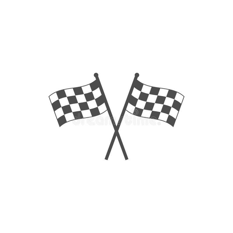 Bieżna chorągwiana ikona Wektorowa ilustracja, płaski projekt ilustracji