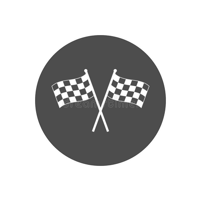 Bieżna chorągwiana ikona Wektorowa ilustracja, płaski projekt ilustracja wektor