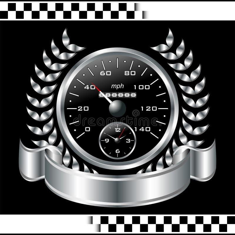 Bieżna szybkościomierz osłona ilustracja wektor
