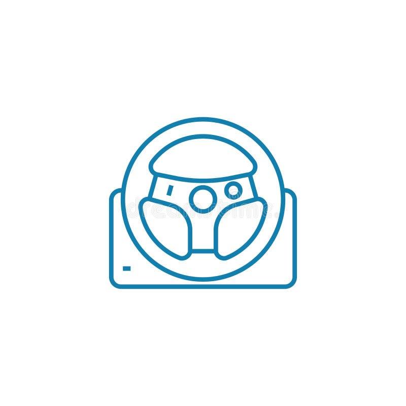 Bieżnego koła ikony liniowy pojęcie Bieżny koło linii wektoru znak, symbol, ilustracja royalty ilustracja