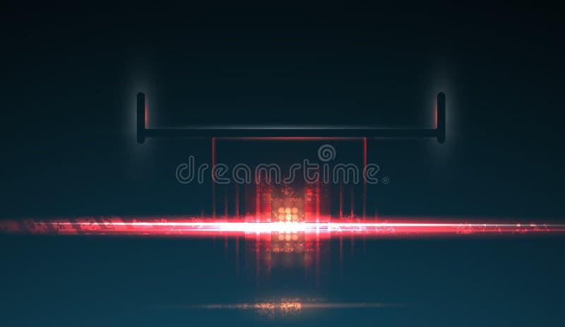 Bieżnego samochodu backlight F1 światło reflektorów ciemne tła abstrakcyjne ilustracja wektor