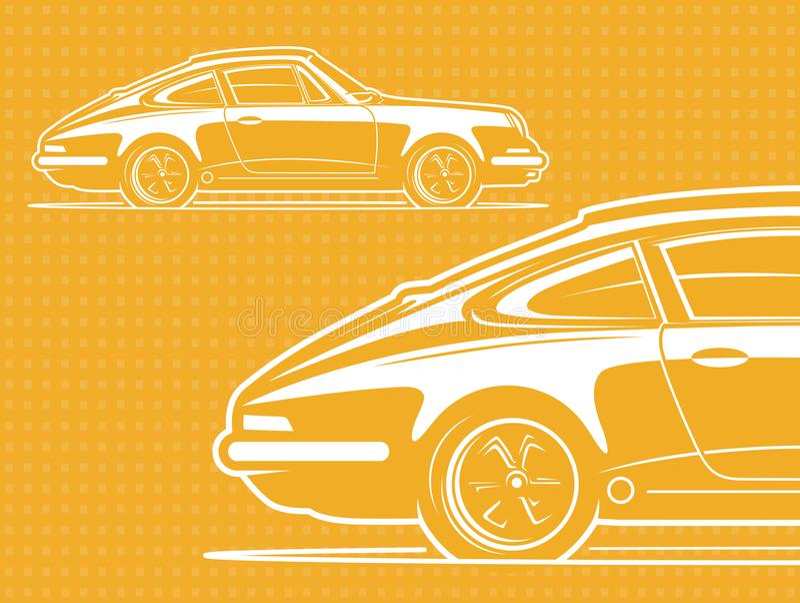 Bieżnego samochodu sylwetka royalty ilustracja