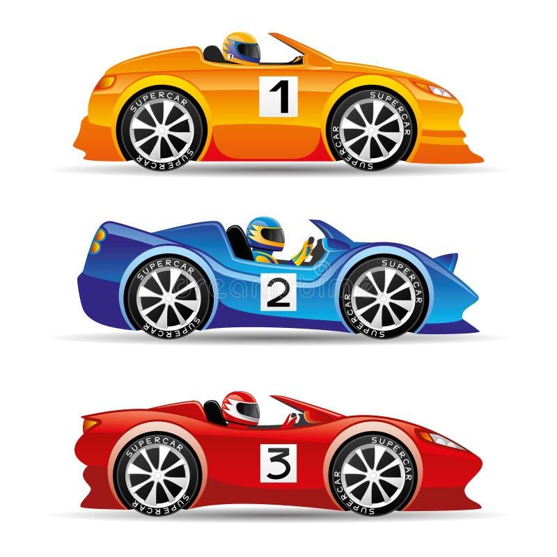 Bieżni samochody royalty ilustracja