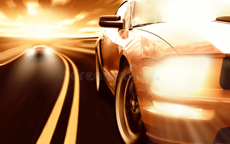 Bieżni sportowi samochody fotografia royalty free