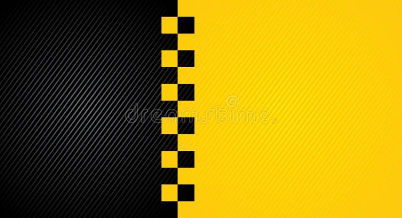 Bieżny pomarańczowy tło, taxi taksówki okładkowy szablon ilustracji