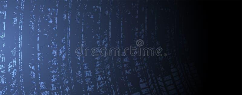 Bieżny prędkości tło, wektorowa ilustracyjna abstrakcja w samochodu śladzie ilustracji