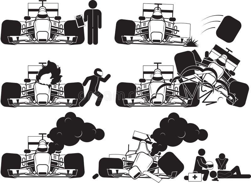Bieżny wypadek ilustracja wektor