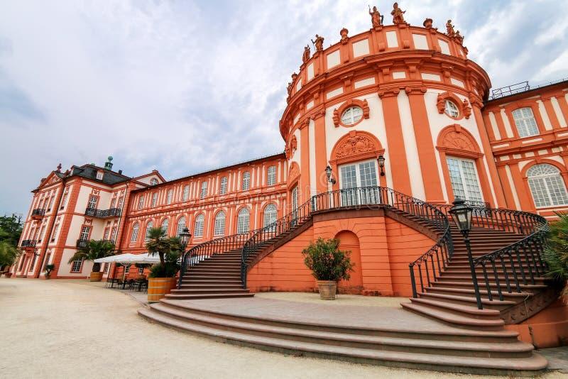Biebrichpaleis in Wiesbaden, Hesse, Duitsland royalty-vrije stock afbeeldingen