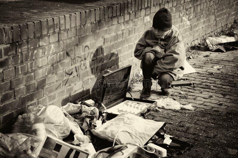 Biedna chłopiec zdjęcia stock