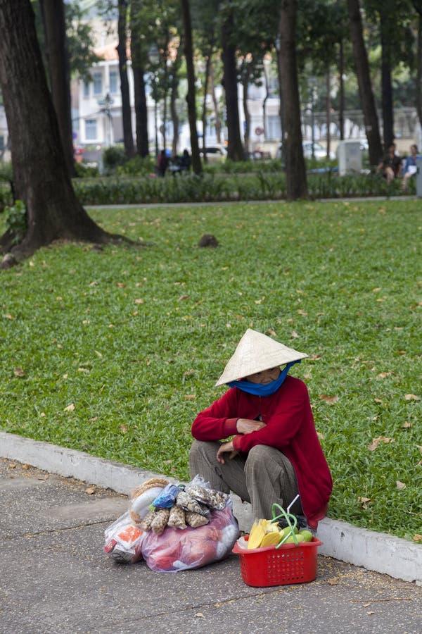 Biedna kobieta w Wietnam zdjęcia stock