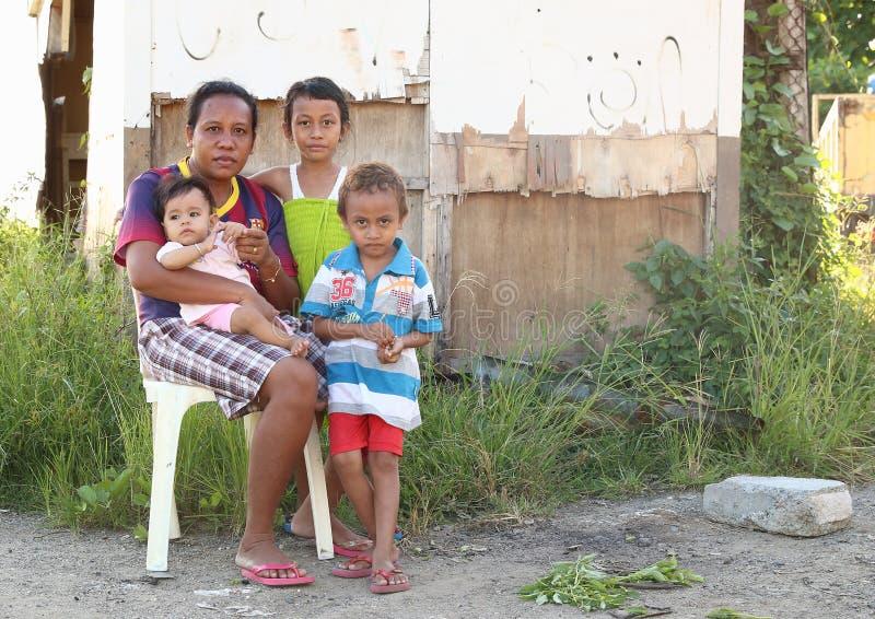 Biedna rodzina obraz stock