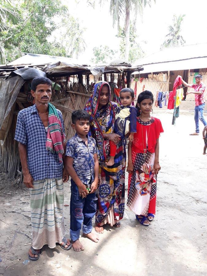 Biedna rodzina w Bangladesz zdjęcia royalty free