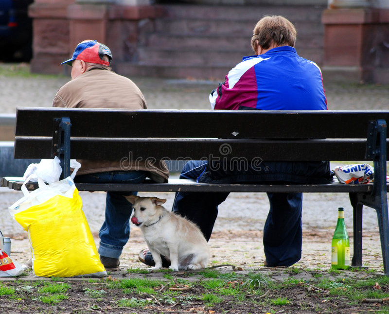 biedni ludzie pijanych obraz royalty free