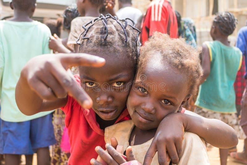 Biedni wiejscy afrykańscy dzieci 28 zdjęcia stock