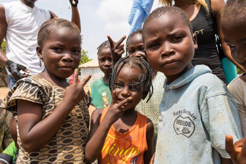 Biedni wiejscy afrykańscy dzieci 27 zdjęcie royalty free