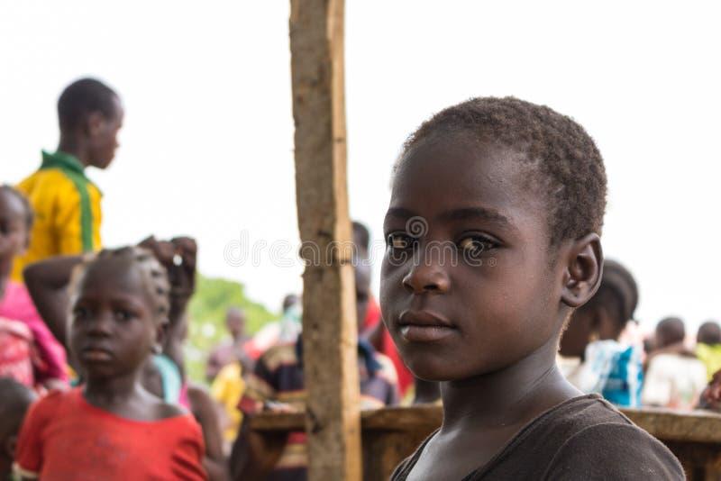 Biedni wiejscy afrykańscy dzieci 24 zdjęcie stock