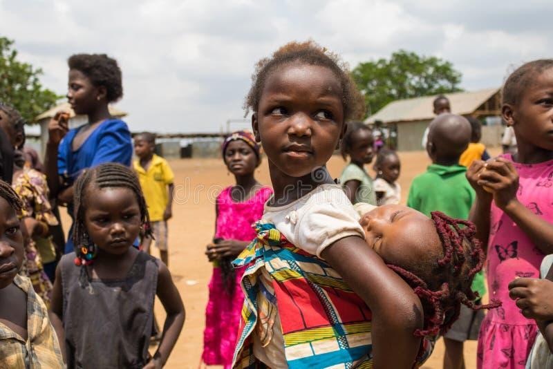 Biedni wiejscy afrykańscy dzieci 20 zdjęcie royalty free