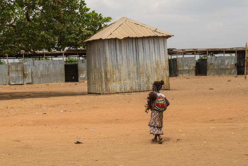 Biedni wiejscy afrykańscy dzieci 19 obrazy royalty free