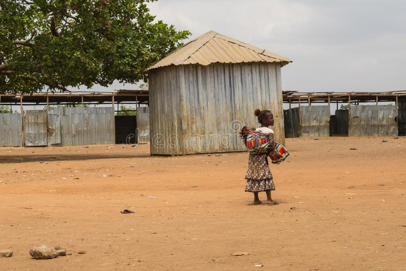 Biedni wiejscy afrykańscy dzieci 18 obrazy royalty free